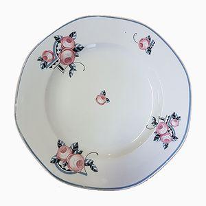 Large Vintage Dish from Faïencerie de Sarreguemines