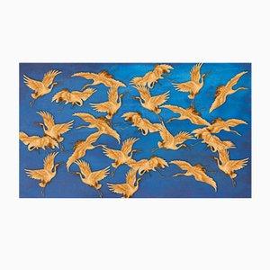 Blue Herons Tapete von Wall81, 2019