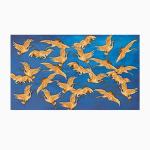 Carta da parati Blue Herons di Wall81, 2019