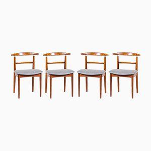 Mid-Century Stühle von Helge Sibast für Sibast, 4er Set