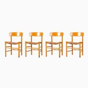J39 Folkestole Stühle von Børge Mogensen für FDB Møbler, 1960er, 4er Set
