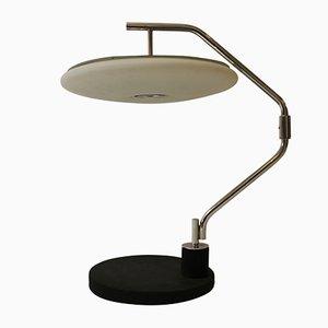 Lampada da tavolo vintage in vetro e metallo cromato di Max Ingrand, anni '70