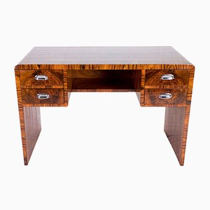 French Art Deco Walnut Desk, 1930s