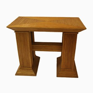 Vintage French Bamboo Console, 1970s