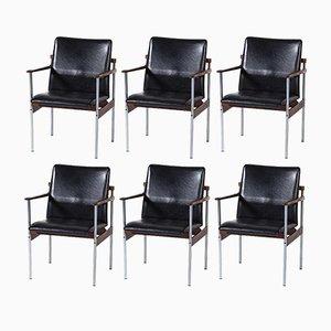 Thereca Esszimmer- oder Konferenzstühle aus Palisander & Metall von Fristho, 1960er, 6er Set