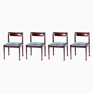 Vintage Danish Rosewood Dining Chairs, 1960s, Set of 4