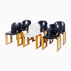 Dialogo Chairs by Afra & Tobia Scarpa for B&B Italia, 1970s, Set of 6