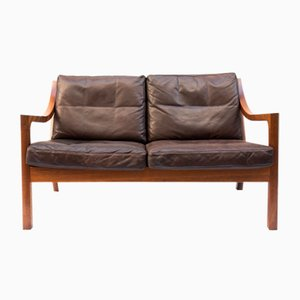 Vintage 2-Seater Leather Sofa