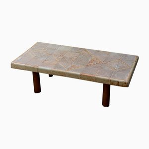Vintage Ceramic Coffee Table by Roger Capron