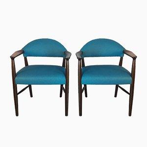 Elbow Chairs von Kurt Olsen für Slagelse Møbelværk, 1950er, 2er Set