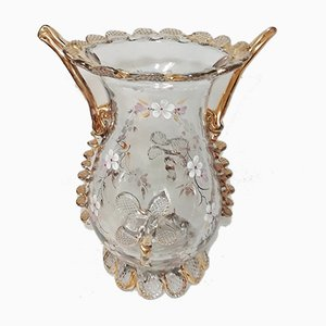 Vase aus Kristallglas, 1950er