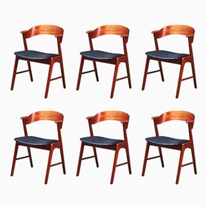 Armchairs by Kai Kristiansen for Korup Stolefabrik, 1960s, Set of 6