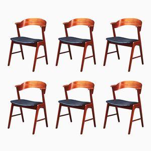 Armlehnstühle von Kai Kristiansen für Korup Stolefabrik, 1960er, 6er Set