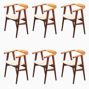 GE525 Dining Chairs by Hans J. Wegner for Getama, 1960s, Set of 6