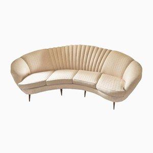 Vintage Curved Sofa, 1950s