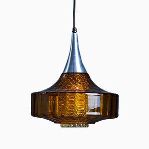 Lampe à Suspension Vintage en Verre par Carl Fagerlund pour Orrefors, 1960s