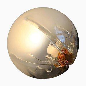 Lampada da soffitto grande in vetro di Murano di Mazzega, anni '70