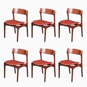 Chaises de Salon Vintage en Palissandre par Erik Buch, Set de 6