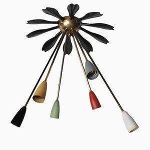 Plafonnier Sputnik Mid-Century, Italie, 1950s