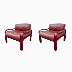 Vintage Sessel von Gae Aulenti für Knoll, 2er Set