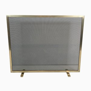Modernist Brass Fireplace Screen, 1970s