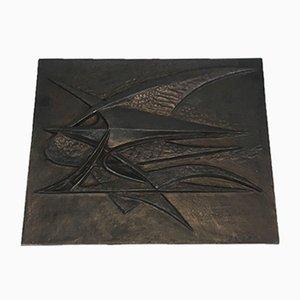 Cortafuego moderno de hierro fundido de G Lecoff, años 50