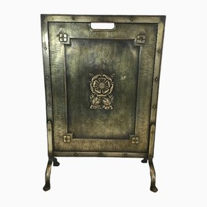 Arts & Crafts Brass & Iron Fire Place Screen, 1900s