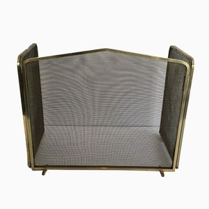 Vintage French Brass Fireplace Screen, 1970s