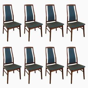 Chaises de Salon Mid-Century par Niels Koefoed pour Koefoed Hornslet, Set de 8