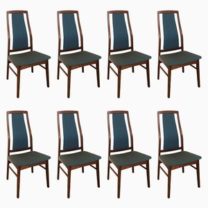 Mid-Century Dining Chairs by Niels Koefoed for Koefoed Hornslet, Set of 8