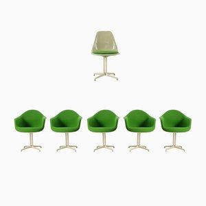 La Fonda DAL Shell Armlehnstühle & Beistellstuhl von Charles & Ray Eames für Herman Miller, 1962
