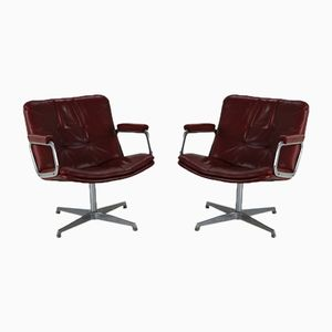 Leather Lounge Chairs by Geoffrey Harcourt Artifort, 1970s, Set of 2