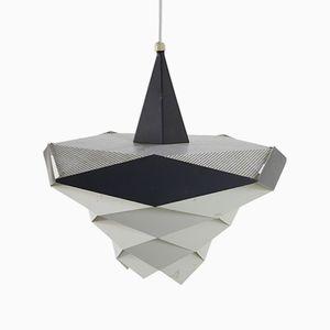 Lampada vintage in metallo di Preben Dahl per Hans Følsgaard Elektro A/S, anni '60