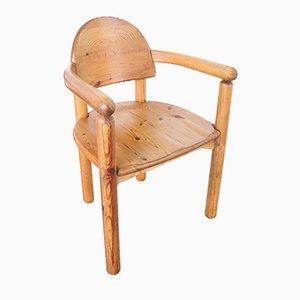 Esszimmerstühle aus massivem Pinienholz von Rainer Daumiller für Hirtshals, 1970er, 2er Set