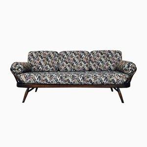 Modell 355 3-Sitzer Sitzbank aus Ulmenholz von Lucian Ercolani für Ercol, 1956