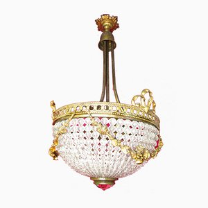 Czech Empire Style Ceiling Lamp, 1920s