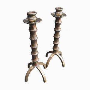 Französische Vintage Kerzenhalter, 2er Set
