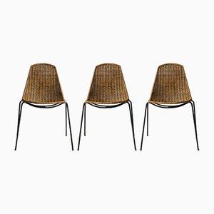 Vintage Basket Stühle von Gian Franco Legler, 3er Set