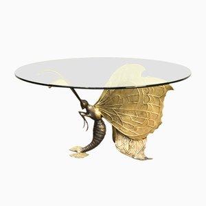 Table Basse en Laiton par Jacques Duval Brasseur, 1970s