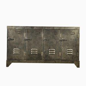 Vintage Industrial Steel Sideboard, 1930s