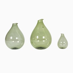 Glass Vases by Kjell Blomberg for Gullaskruf, 1950s, Set of 3