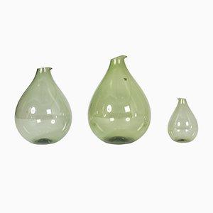 Vases en Verre par Kjell Blomberg pour Gullaskruf, 1950s, Set de 3
