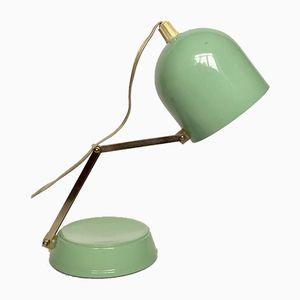 Lámpara de pared o mesa vintage de metal en verde menta, 1981