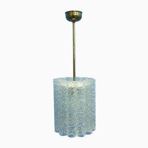 Mid-Century Deckenlampe mit Schirm aus Eisglas von Doria Leuchten