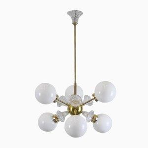 Lampe à 6 Globes Sputnik Mid-Century