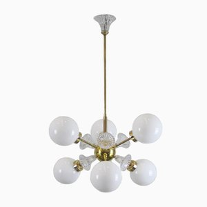 Mid-Century Sputnik Lamp with Six Globes