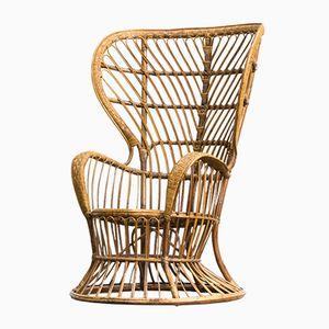 Biancamano Wicker Chair by Gio Ponti & Lio Carminati for Vittorio Bonacina, 1950s