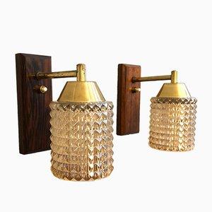 Lámparas de pared danesas Mid-Century, años 60. Juego de 2