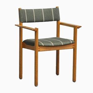 Vintage Armlehnstuhl mit Gestell aus Eschenholz von H.W. Klein für Lervad, 1970er