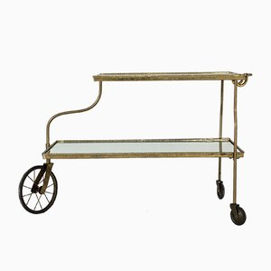 Brass Bar Trolley by Josef Frank for Svenskt Tenn, 1950s